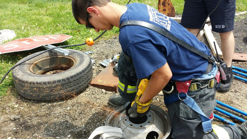 """Robbinsville Firefighters Train on """"Man vs Machine"""" Rescues"""