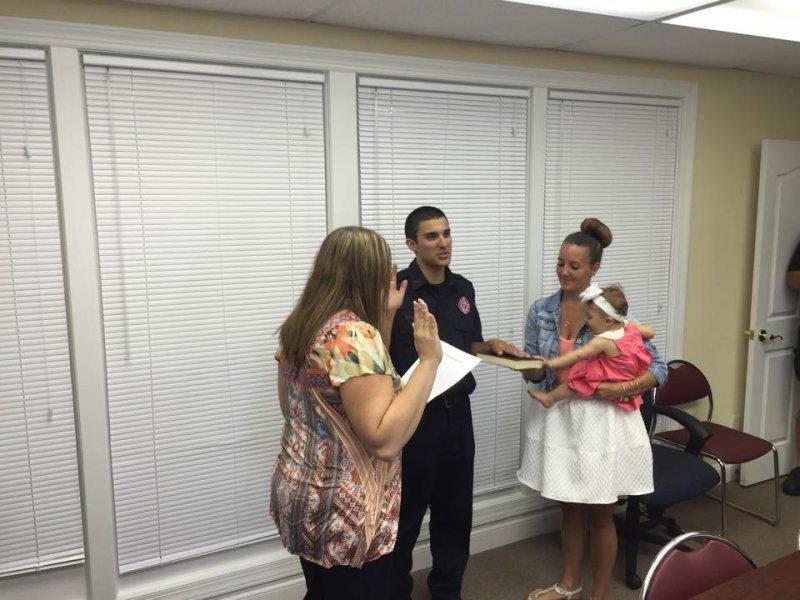 Probationary Firefighter Nicholas D'Alonzo