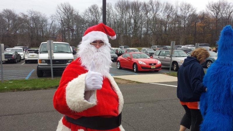 Santa Arrives at Holiday Bazaar