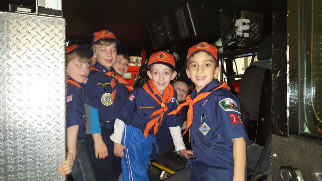 Cub Scout Pack 79 Den 6 visit to firehouse